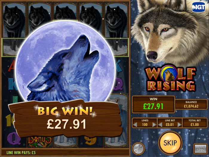 wolf rising video slot bij vera en john casino