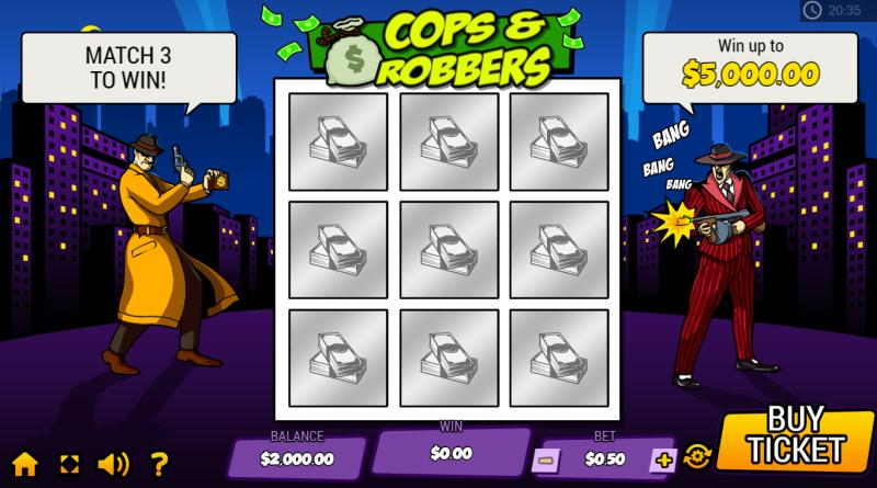online krasloten cops and robbers