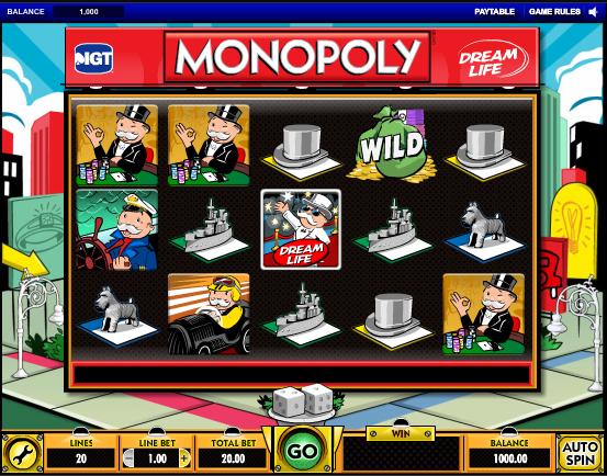 monopoly dream life videoslot